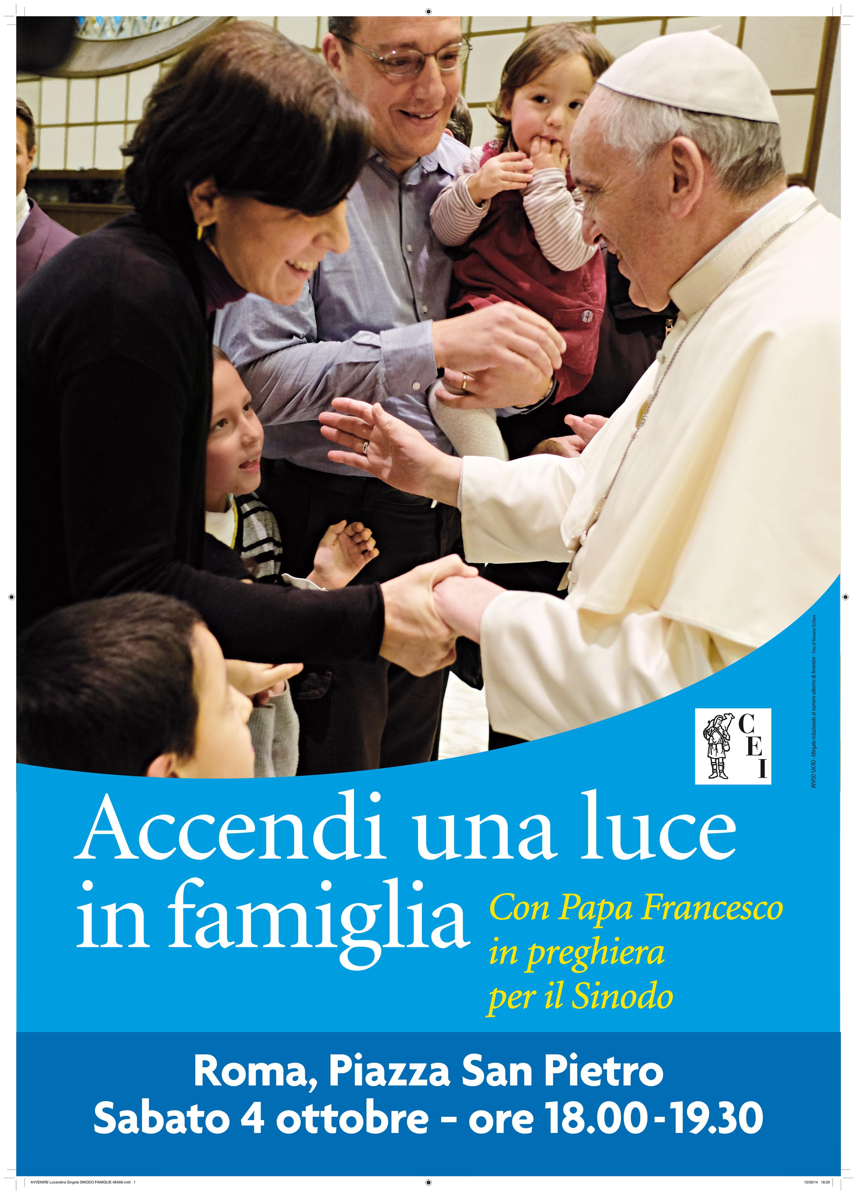 Preghiera nelle famiglie in attesa del Sinodo dei vescovi