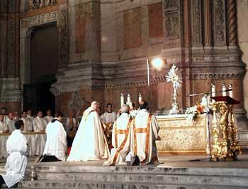 Giovedì 26 maggio – Celebrazione del Corpus Domini, Messa e processione