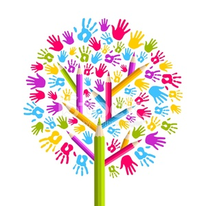 21935500-diversity-education-tree-hands-illustration