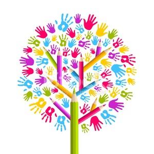 21935500-diversity-education-tree-hands-illustration