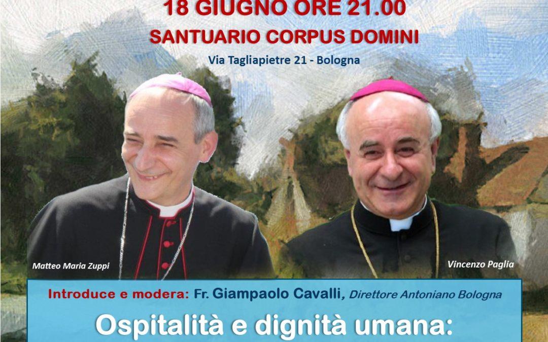 """OSPITALITA' E DIGNITA' UMANA"", Zuppi e Paglia"