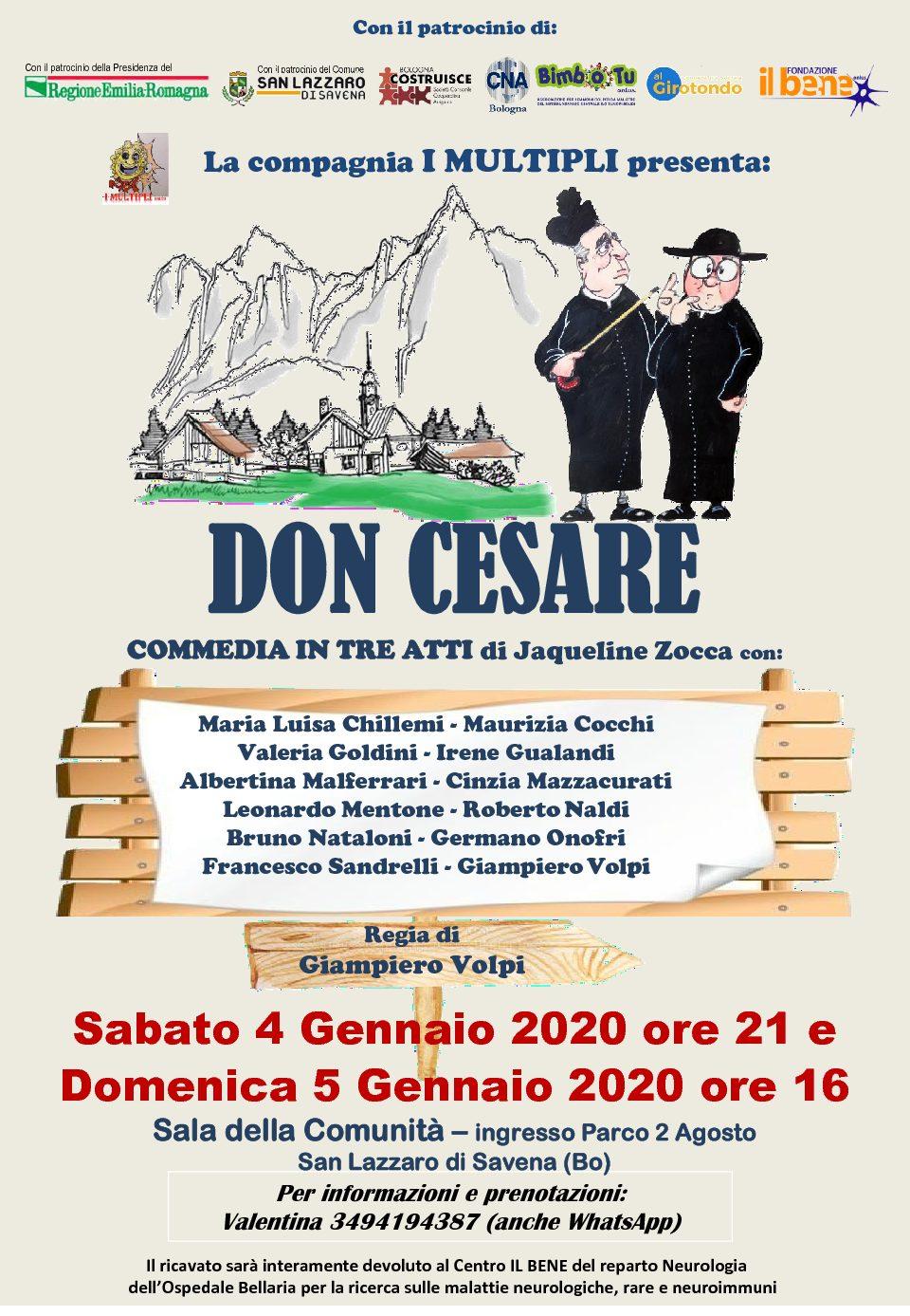 Commedia «DON CESARE» del 4 e 5 gennaio