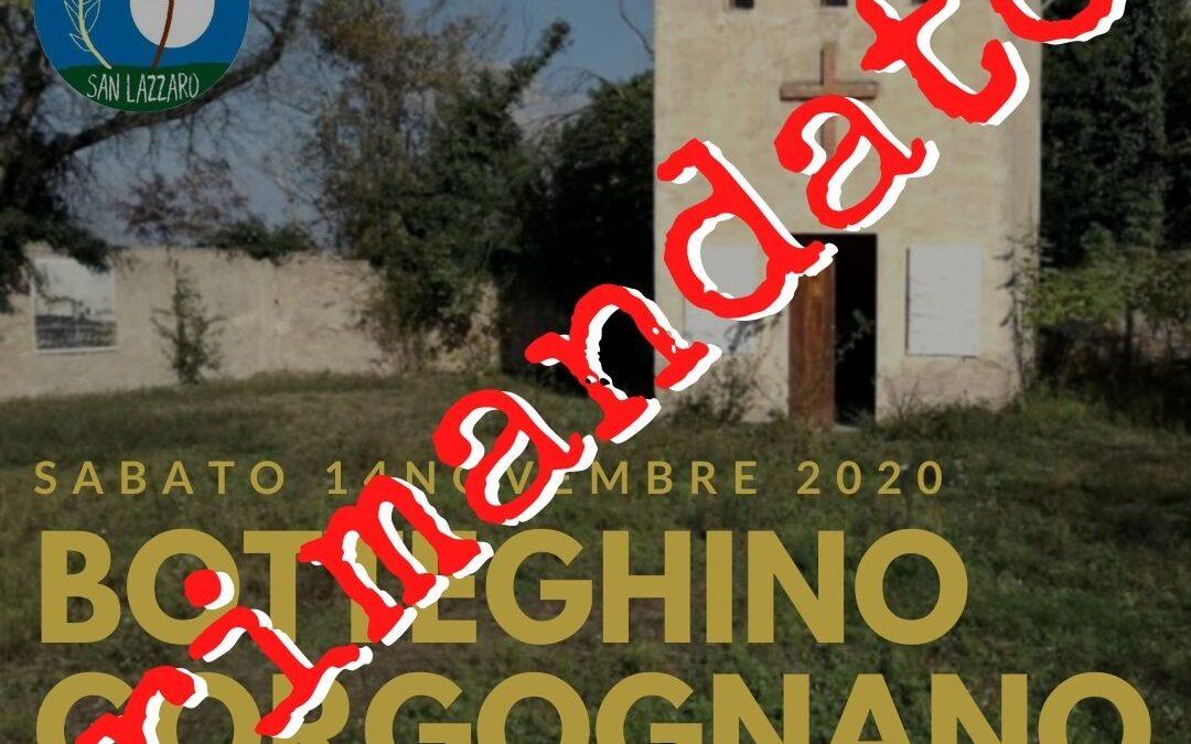 Camminata a Gorgognano rimandata
