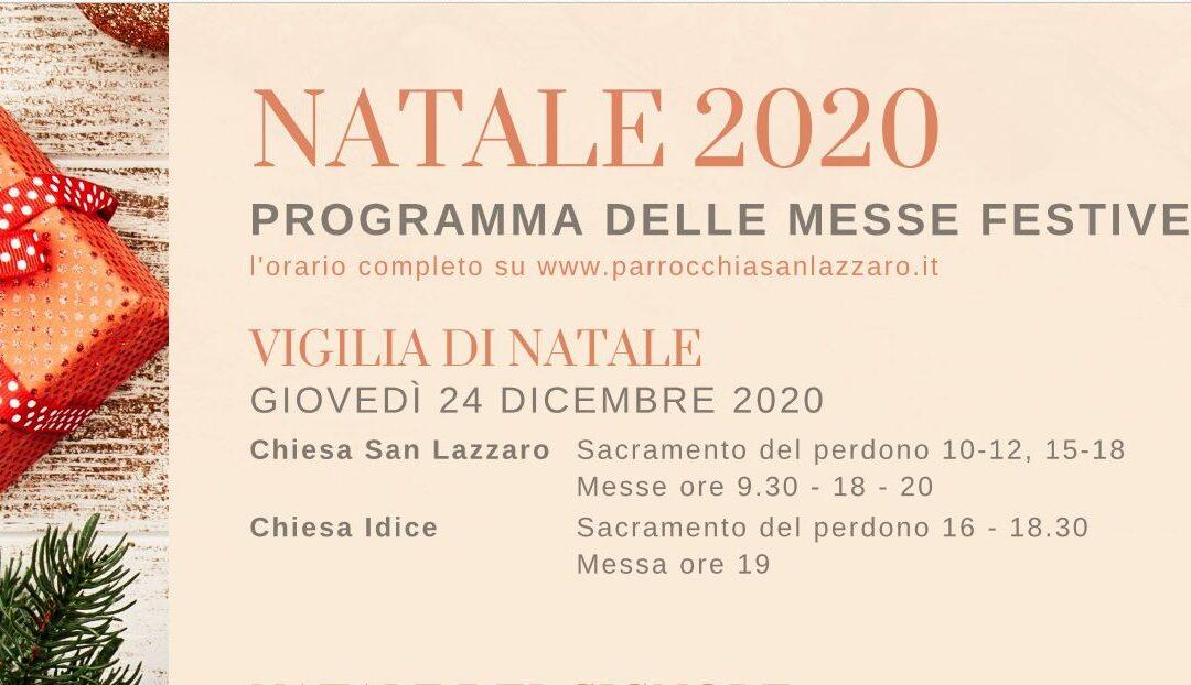 Programma delle Messe Natalizie